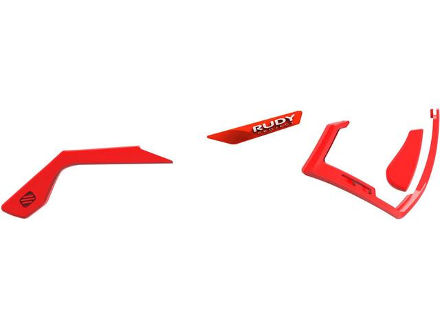 Rudy Project Defender Chromatic Full Custom Kit Red Fluo / White emblems